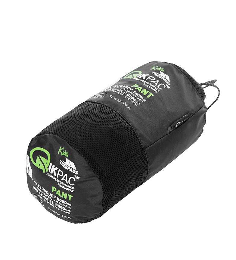 Qikpac Packaway negro Trespass TP75 Pantal�n ZOAWqg