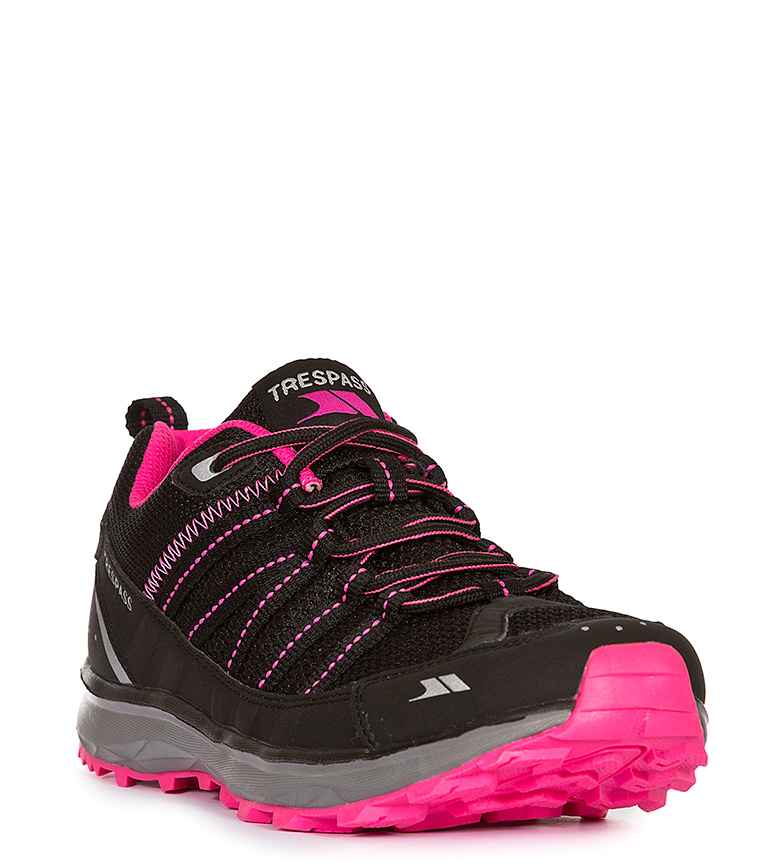 Trespass Zapatillas Triathlon Active Runner Trainer negro, rosa