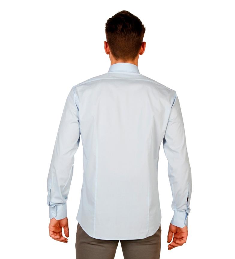 Trussardi Camisa m/l azul claro