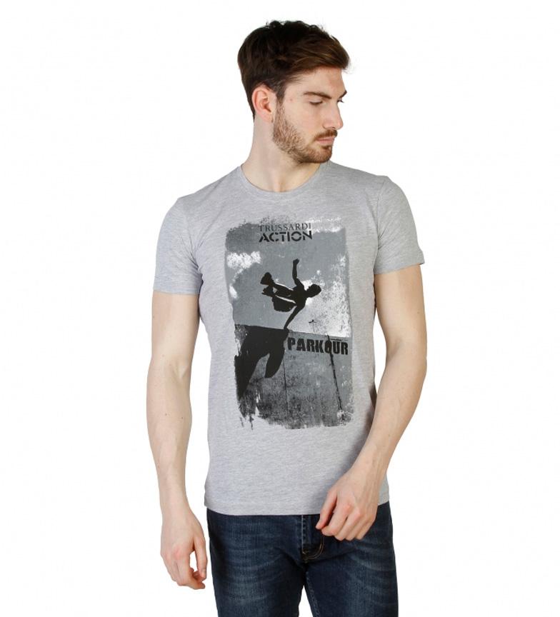 Trussardi Camiseta m/c gris, negro