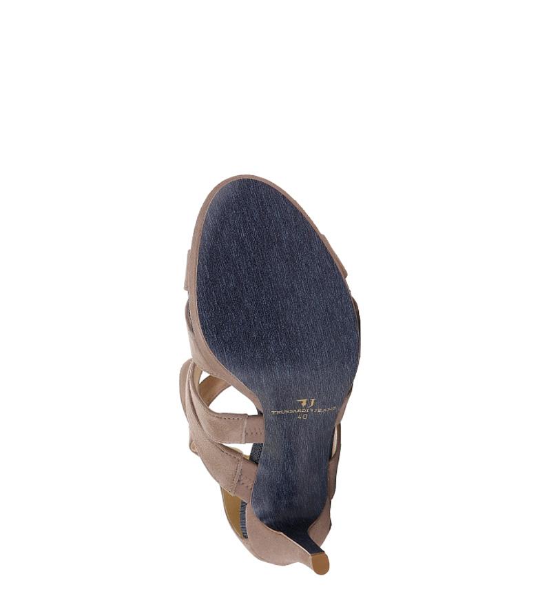 11cm Trussardi beige tacón Altura Sandalias Trussardi Sandalias Y0w1q78q