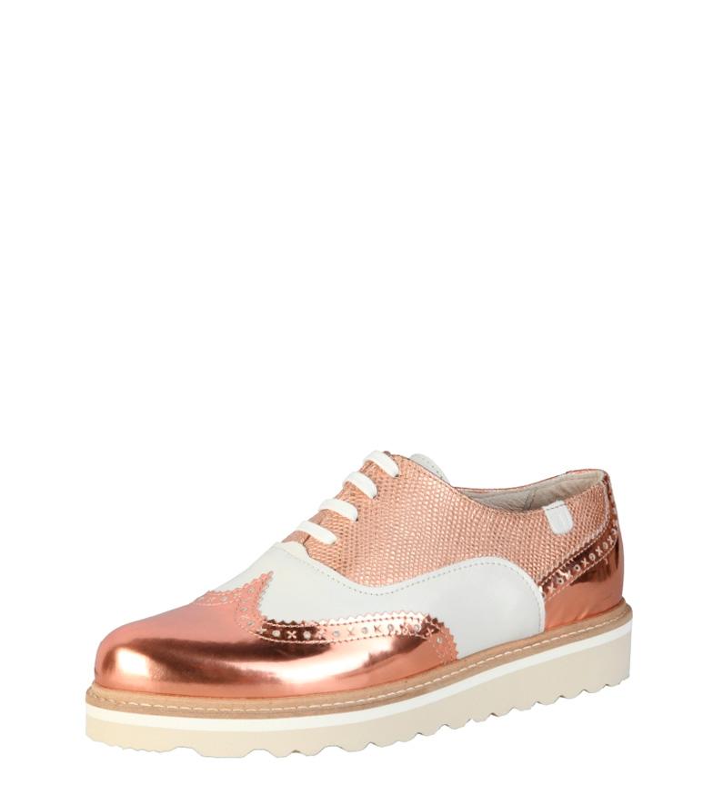 oxford Trussardi blanco de rosa Trussardi Zapatos Zapatos piel pXwCfPq