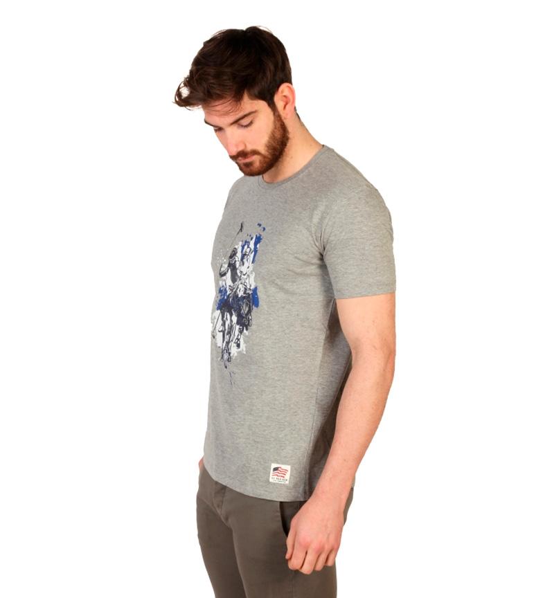 U.S. Polo Camiseta m/c gris