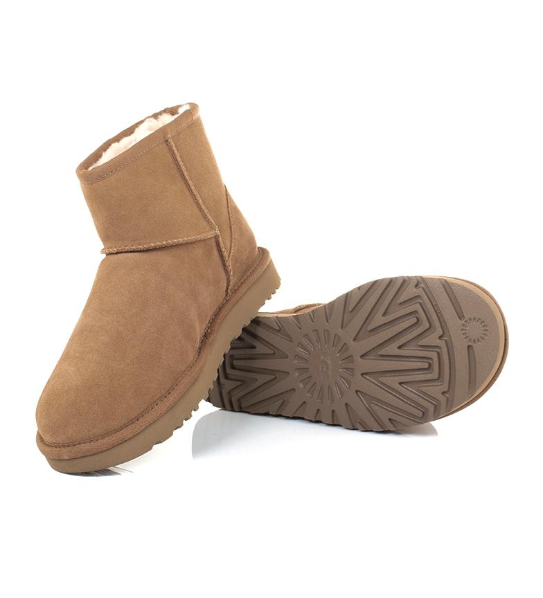 Comprar UGG Australia Leather boots Classic Mini UGG Rubber Logo chestnut