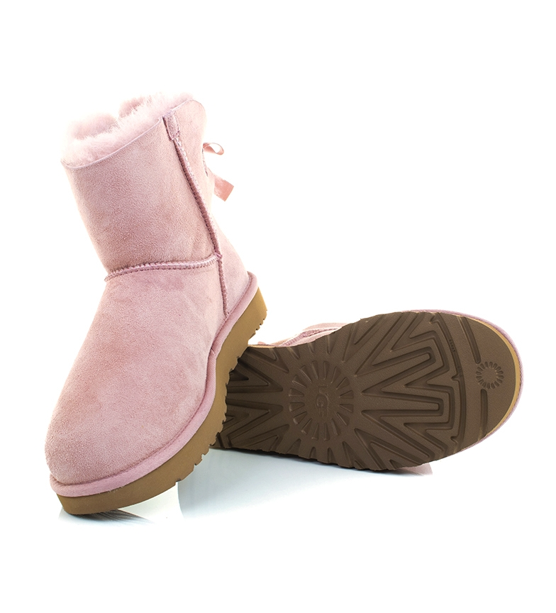 Comprar UGG Australia Leather boots W Mini Bailey Bow II pink crystal
