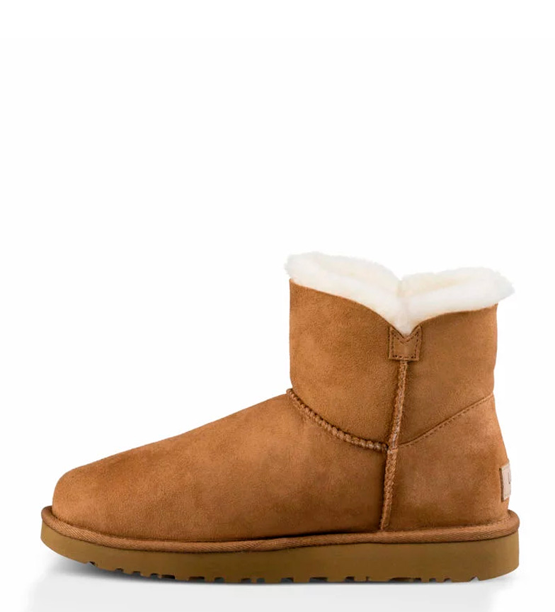 Baley Button UGG Mini II Australia chestnut piel de Botines Pww1qXf