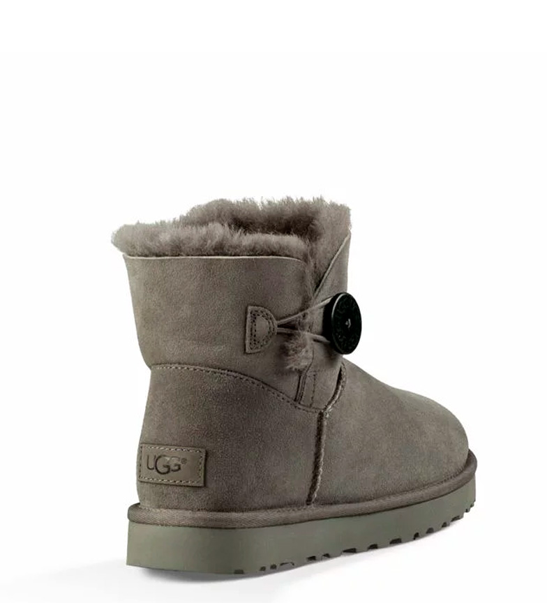 UGG Australia Botines de piel Mini Baley Button II gris