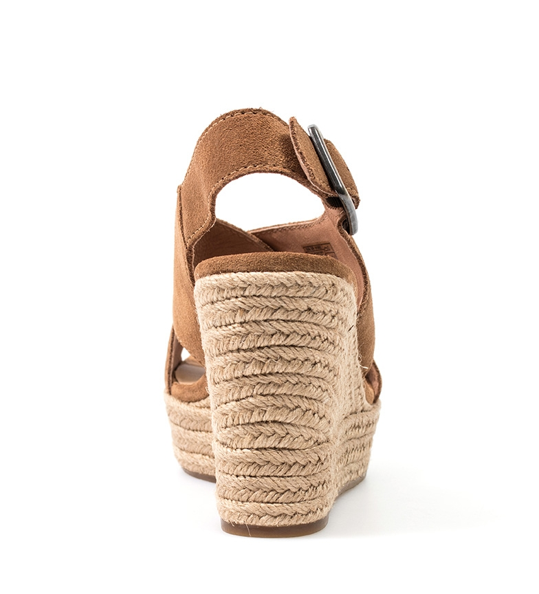 UGG 10 cuña marrón Sandalias Harlow 5cm de piel Altura Australia ZnqF8xZwgr
