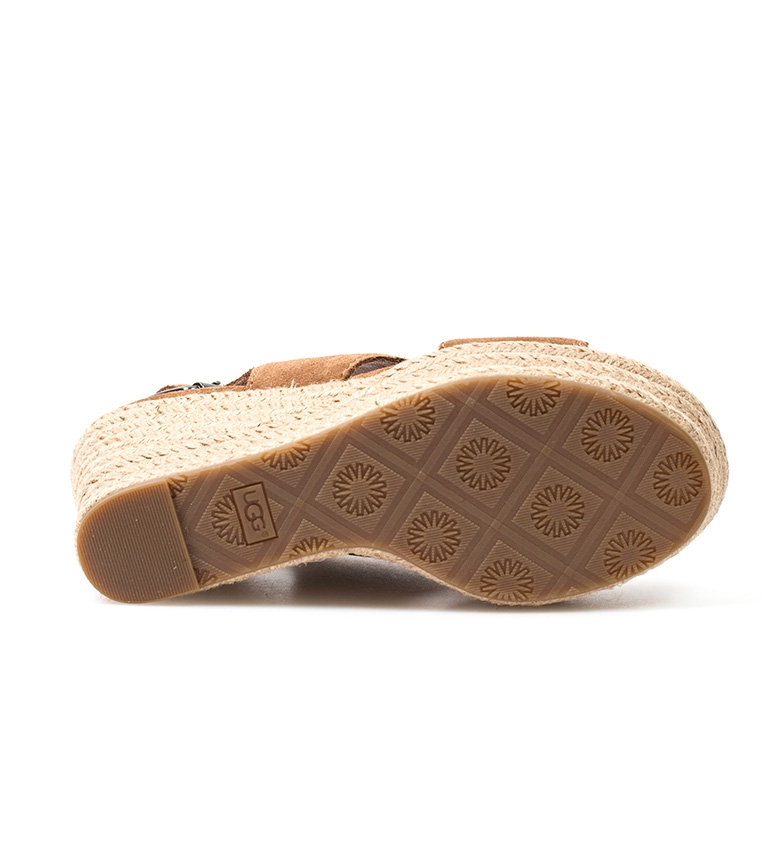 5cm UGG Australia Sandalias Altura cuña Harlow marrón 10 de piel zBvPSqBw