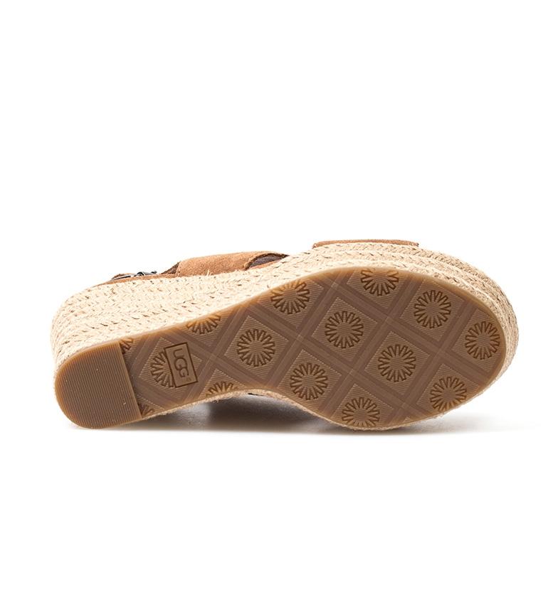 Australia piel Sandalias cuña Altura marrón Harlow 5cm de 10 UGG dxtZq5wd