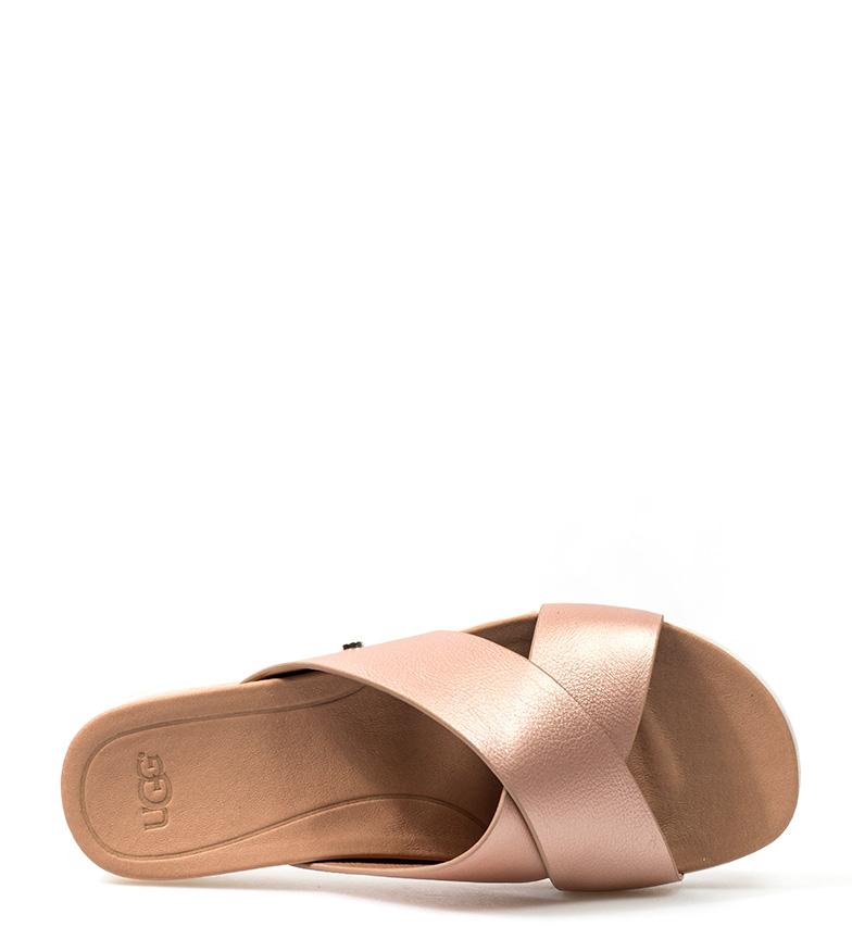 UGG Australia Sandalias de piel dorado Kari rr4qH
