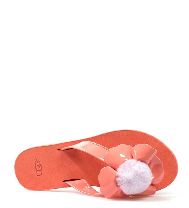 de piel UGG Australia Flip flop coral Poppy 1tUxBzqU