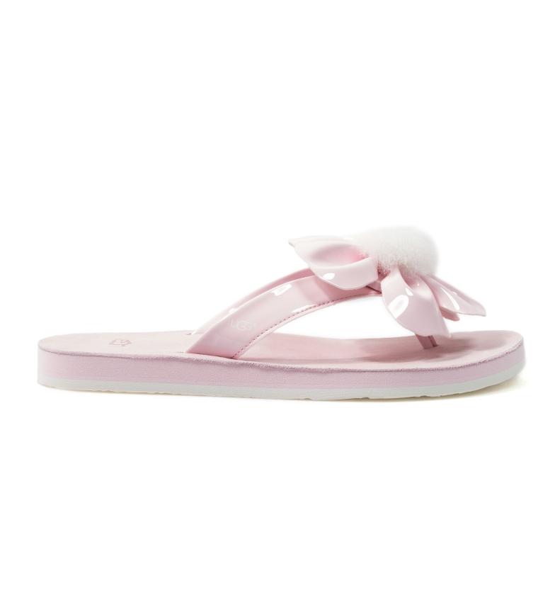Comprar UGG Australia Flip-flop de piel Poppy rosa