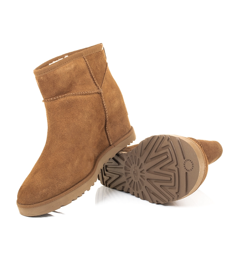 Comprar UGG Australia Botas de piel Classic Femme Mini chestnut -altura cuña interior: 7cm-