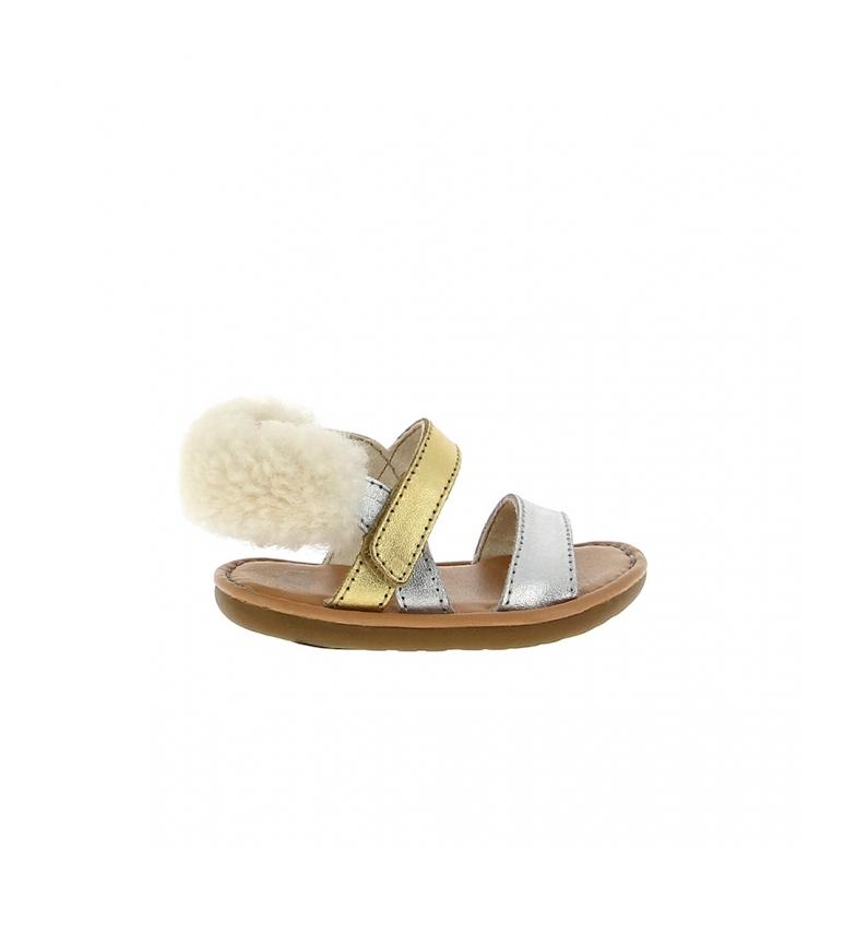 Comprar UGG I Dorien Sandali in pelle metallizzata argento, oro