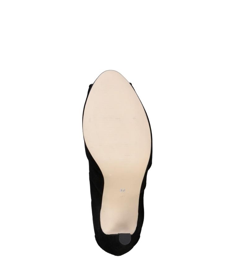 Altura tacón Sandalias 1969 9 Estelle negro piel de 5cm V BSwYW