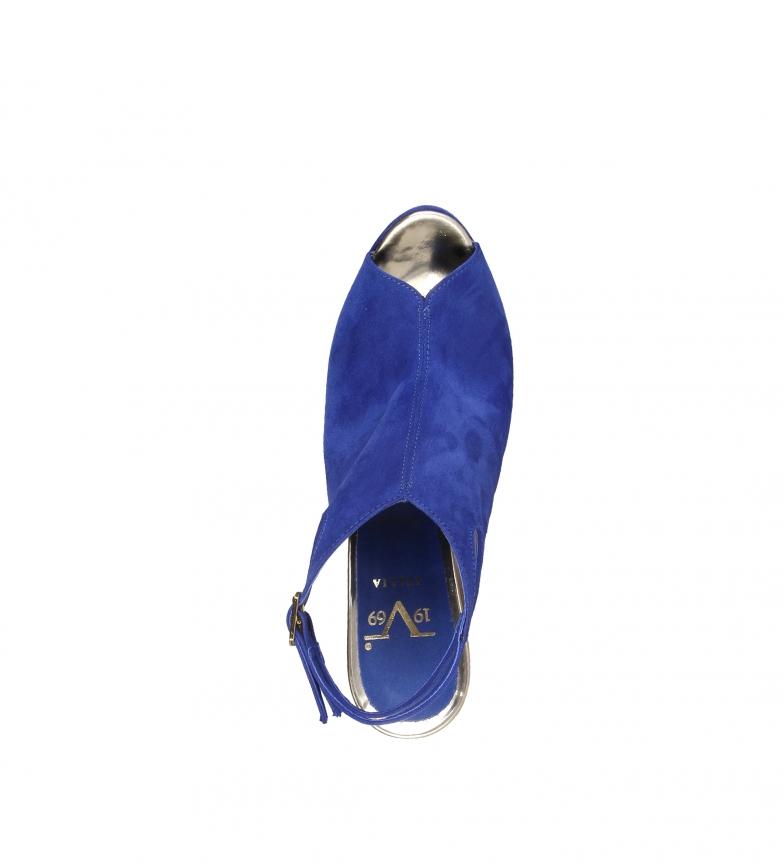 Thecle 5cm Altura tacón 12 V Sandalias azul 1969 0wq4OE