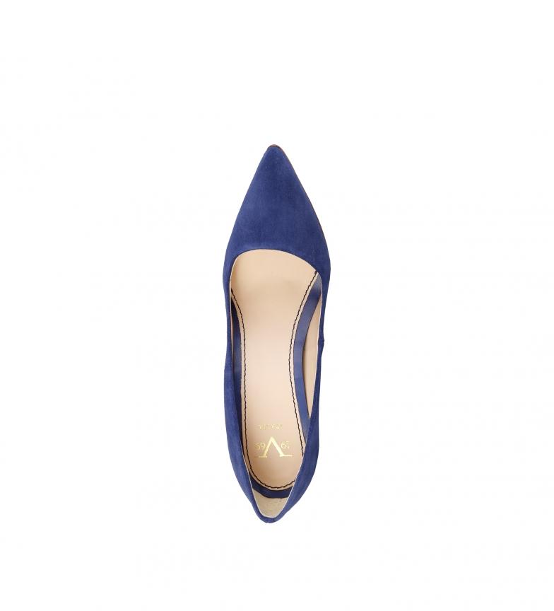 azul ante de Altura índigo 1969 V br tacón Mathilde 9cm br Zapatos wqXfctT