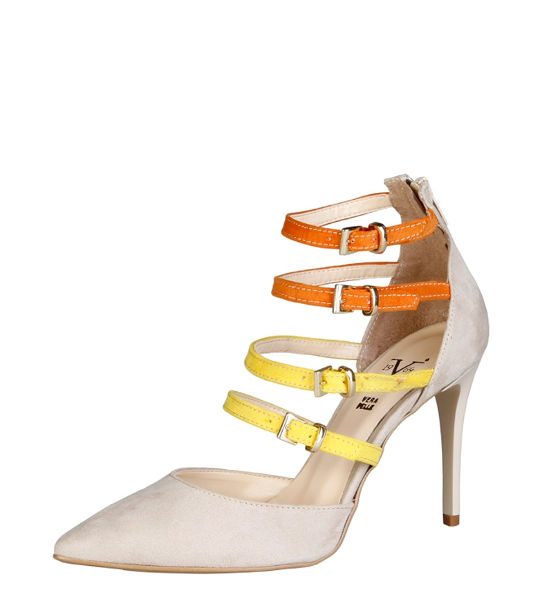 1969 9 Seline V Altura beige 1969 V 5cm tacón Zapatos qvCE4xOw