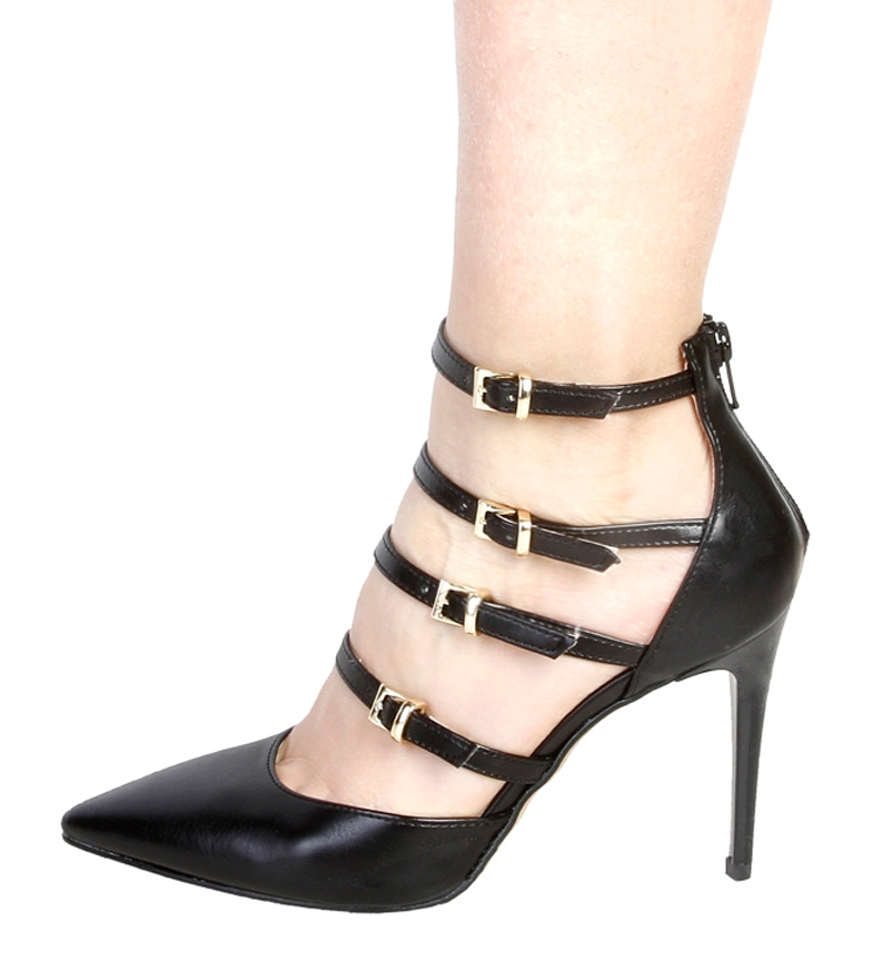 Zapatos 1969 5cm Altura tacón 9 V V negro 1969 Seline qEnzwt0Y