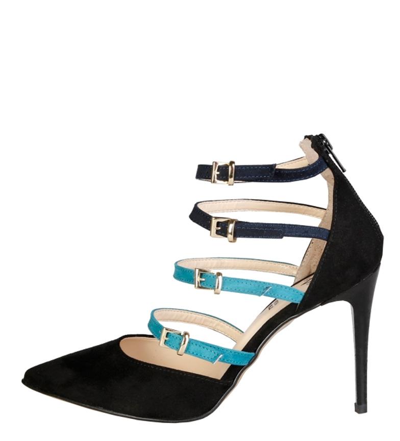 V 1969 Zapatos Seline negro, verde Altura tacón: 9,5cm