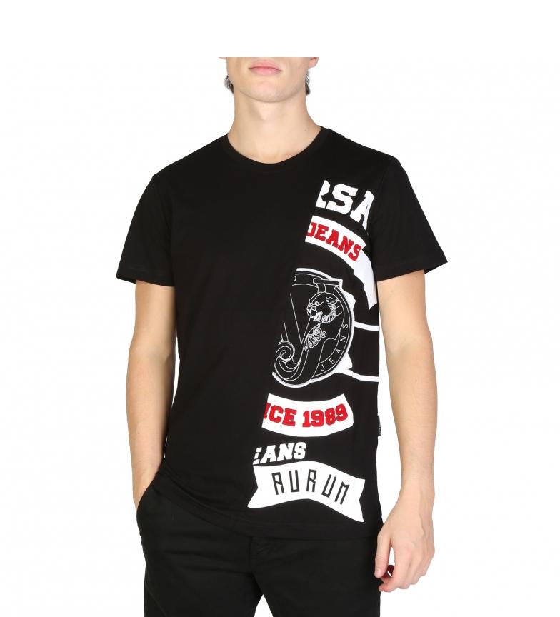 ... T-Shirts B3GSB73F 36598 noir Homme Casuel Manche courte. Versace Jeans 6b7df1a5ff8