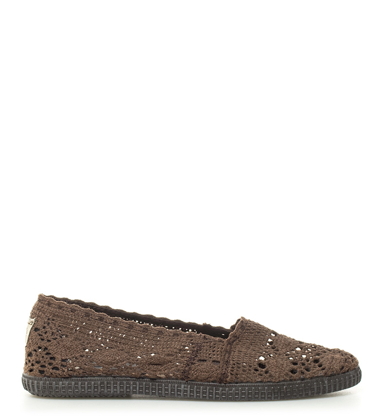 Comprar Victoria Alpargatas crochet marrón