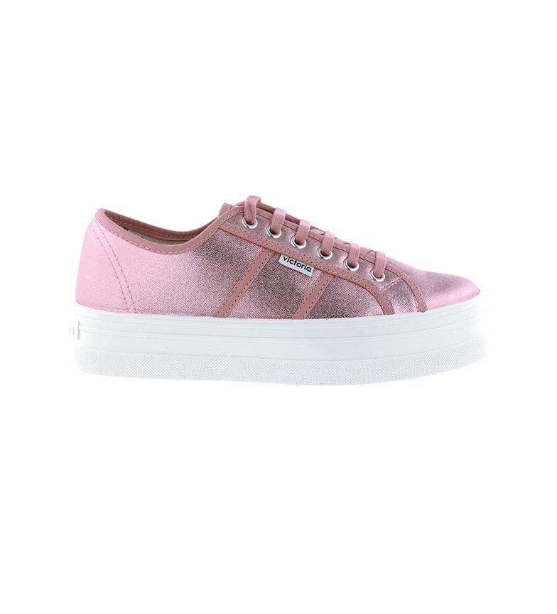 Victoria Scarpe di Barcellona Tela metallica rosa