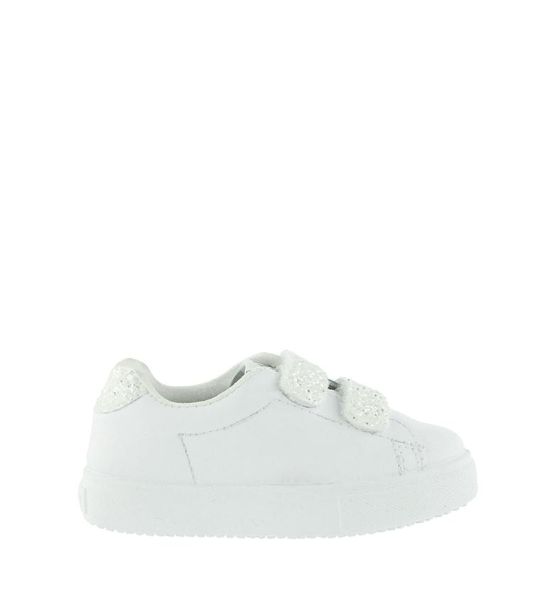 Comprar Victoria Sapatos de Couro Velcros Glitter Branco