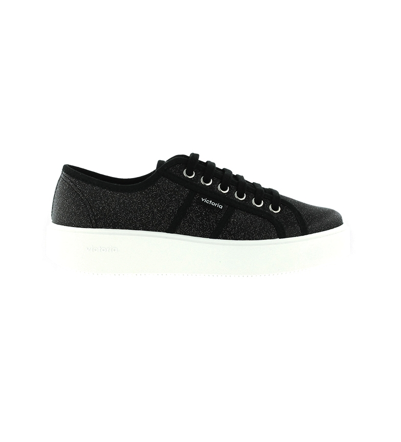 Comprar Victoria Utopia shoes Black metallic canvas