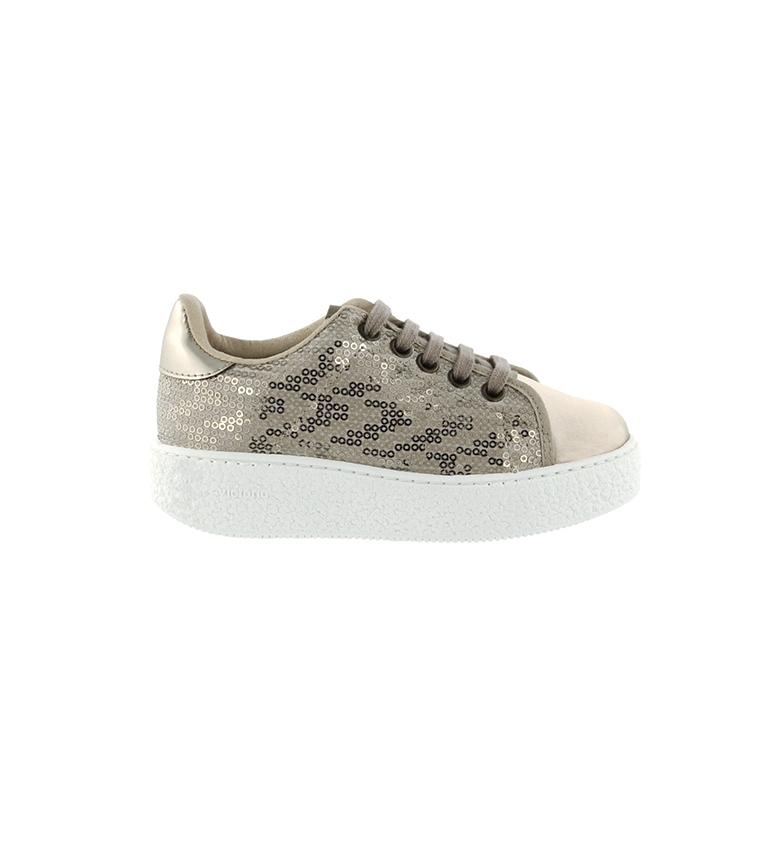 Comprar Victoria Utopia Platinum Embossed Leather Shoes