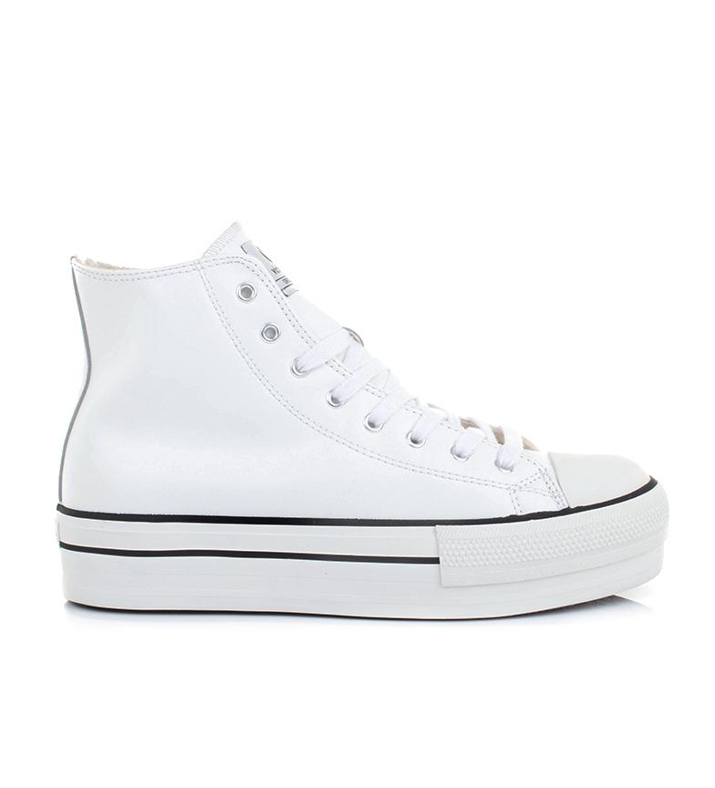 Victoria Sneakers Chicago bianche - altezza piattaforma: 4 cm -