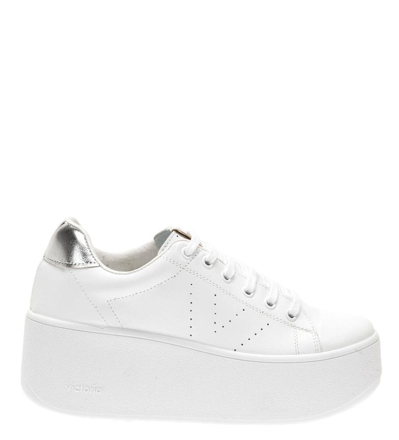 Comprar Victoria Sapatos de couro prateado Valiente - Altura da plataforma: 7cm