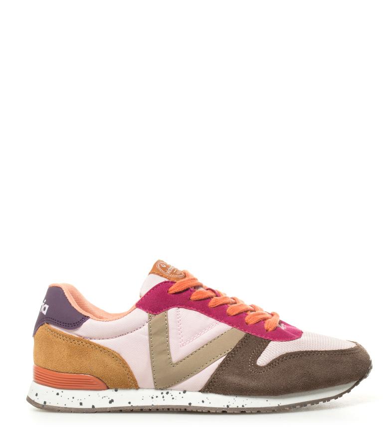 Victoria rosa de Zapatillas piel combinadas FqwrF17