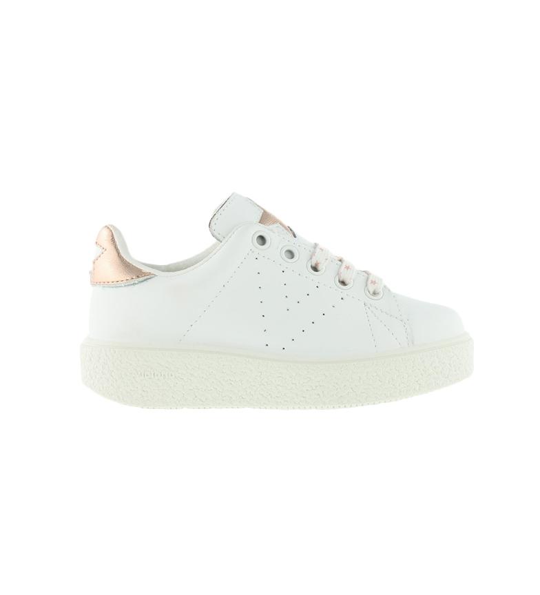 Comprar Victoria Chaussures en cuir Utopia Relief Star blanc - Hauteur de plate-forme : 3,5cm