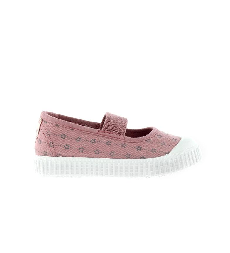 Comprar Victoria Sapatos Dançarinos estrelas rosa