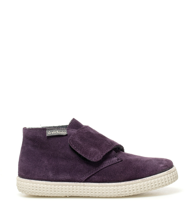Comprar Victoria Zapatillas de piel Bombón morado