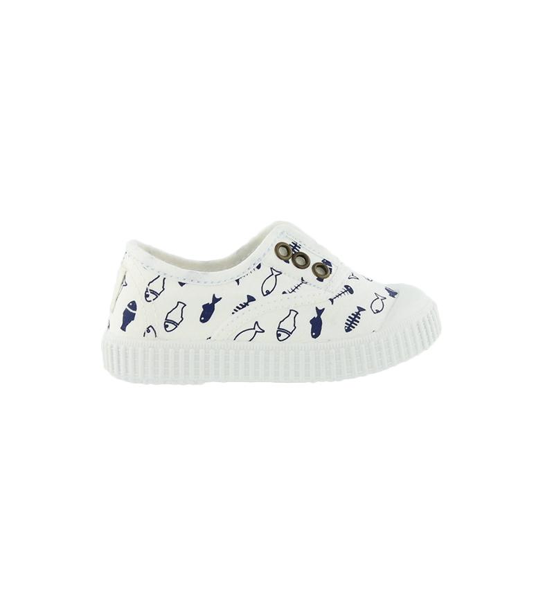 Victoria Sapatos Peças Tintados branco