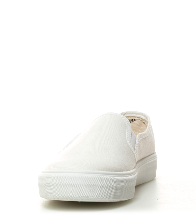 Victoria Slip On algodón orgánico blanco n84qUnr