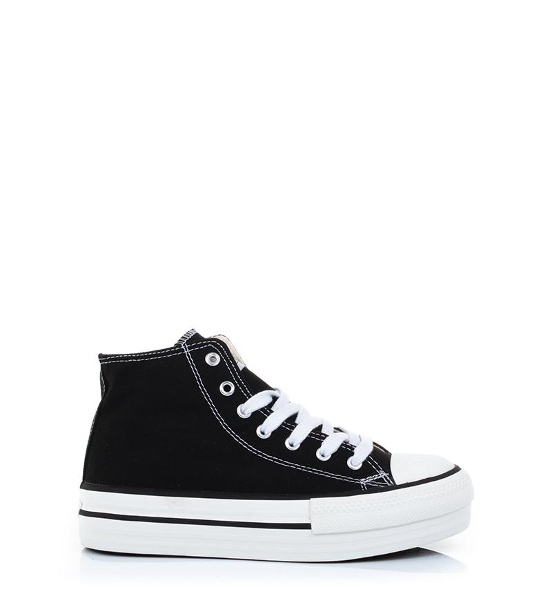 Comprar Victoria Sapatinho de Amesterdão com plataforma de altura preta: 4cm