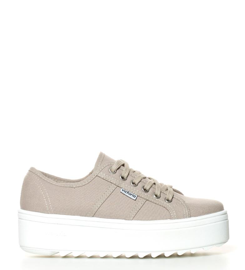 Comprar Victoria Chaussures plate-forme beige -Hauteur: 5cm-
