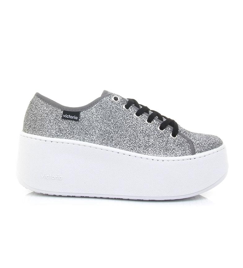 Comprar Victoria Sneakers glitter argento grigio-Altezza piattaforma: 6cm-
