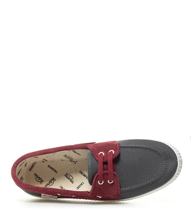 Victoria Victoria Zapatillas combinadas Zapatillas antracita burdeos 5a5dqwr