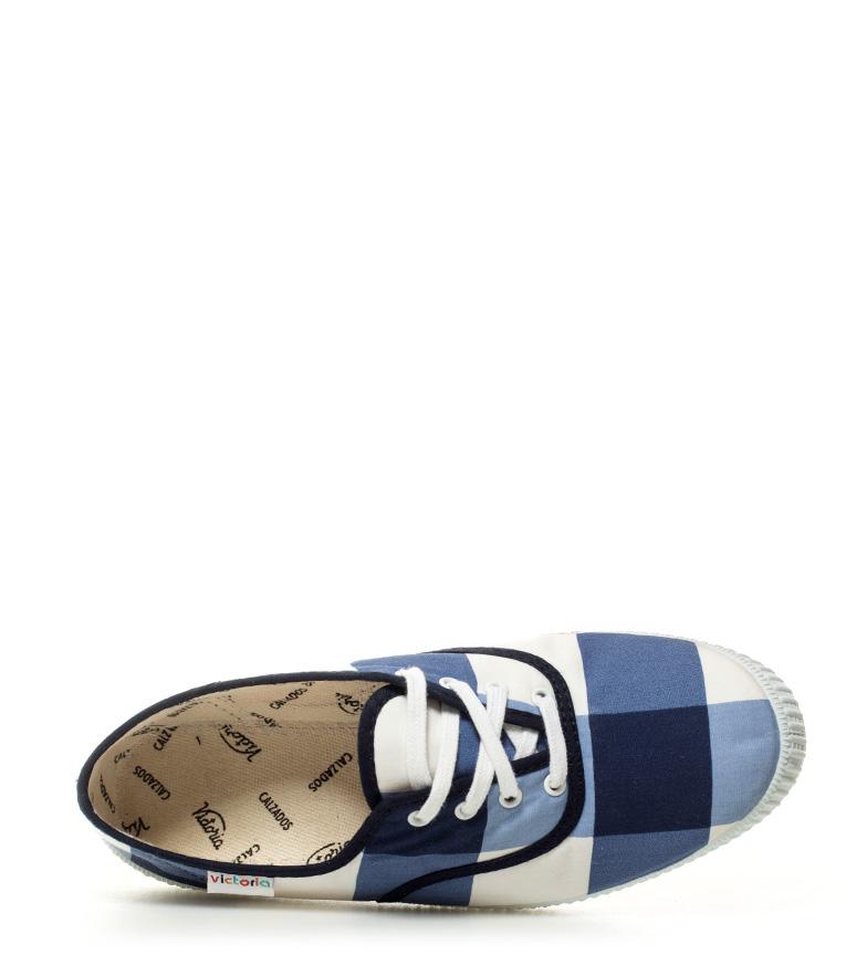 blanco de Zapatillas cuadros Victoria marino xgnIqxF
