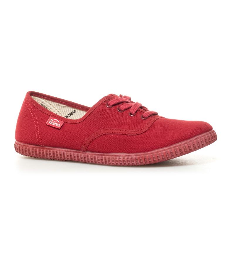 de Victoria Zapatillas rojo Zapatillas lona Victoria zwzxYF1t