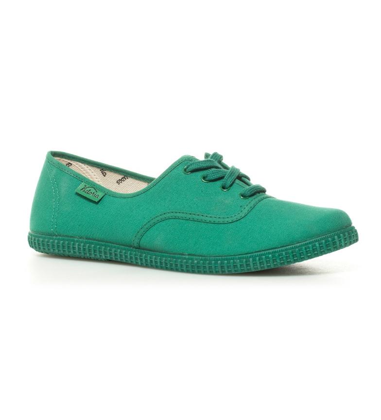 de lona lona Victoria Victoria verde Zapatillas Zapatillas de ZA84w8Eq