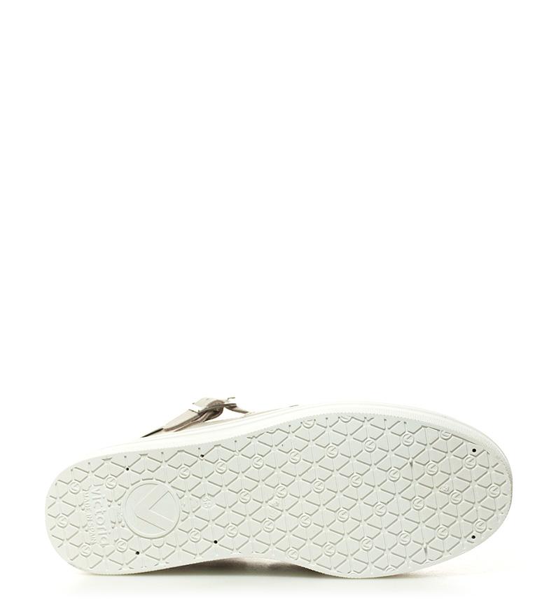 piel Altura de 4cm plataforma Victoria Zapatillas beige Twq8TPE
