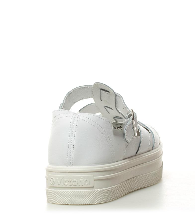 Altura plataforma 4cm blanco piel Victoria de Zapatillas qwS7xZ1