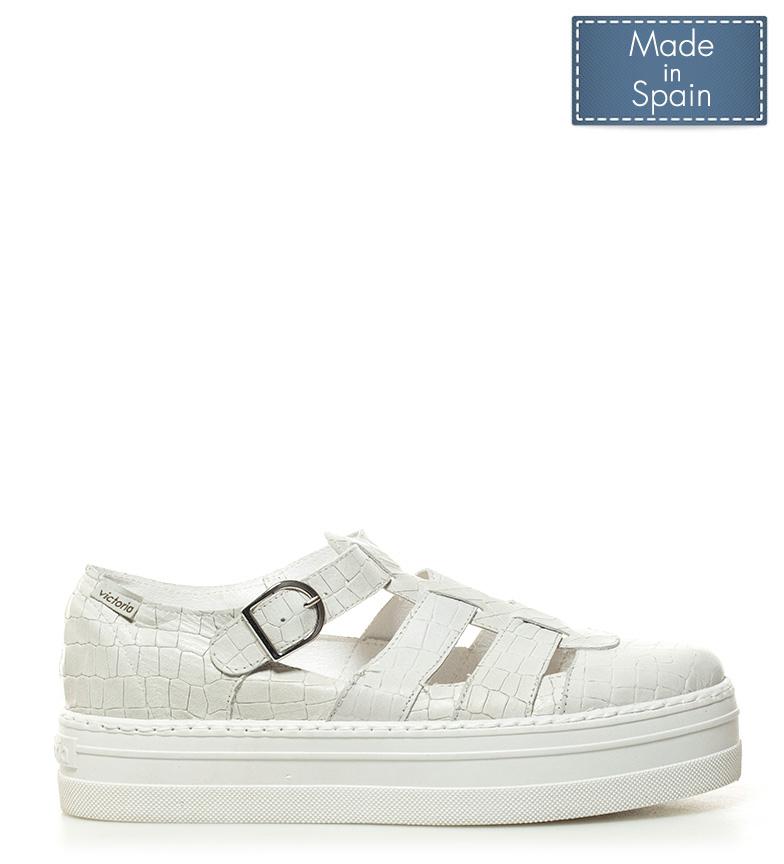 Comprar Victoria Sapatos de couro branco - Altura da plataforma: 4cm