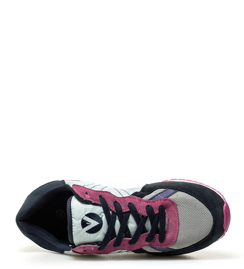Victoria-Zapatillas-de-piel-combinada-Mujer-chica-Sintetico-Tela-Plano